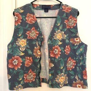 Floral Cropped Vest